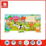 2014 new toys silk screen farm design cow sheep horse and many animal house pumpkin wholesale custom jigsaw puzzle