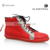 Mens casual genuine leather sneakers custom made shoes