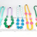 Popular Baby Teething Silicon Necklace Baby Jewelry Wholesale Baby Safe Silicone Mom Nursing Jewelry Necklace