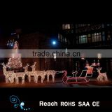 Hot Sell Christmas Motif Light Rope Light Reindeer and sleigh decoration indoor /outdoor christmas decoration