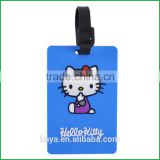 2016 soft rubber key tag with cat shape