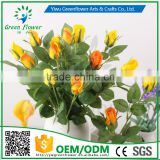 Greenflower 2016 Wholesale Real Touch Latex PU China Artificial Flowers Rose Bud for wedding decoration