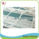 OEM custom and high quality glossy lamination label sticker