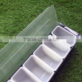 plastic bar caddy cocktail condiment tray