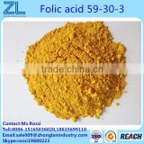 Pharma grade HPLC 97.5%min Folic acid 59-30-3 fine powder