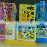 Promotional Cheap School Office Cartoon Stationery Creative Gift Pen pencil Holder Container Box Set For Children Students kids