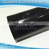 Shiny Black Iridescence Glitter Holographic Rainbow Film Car Vinyl Wrap Sticker