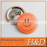 metal blank button badges with smile logo
