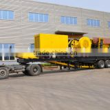 Wheel movable stone crushing plant, Tire mobile stone crushing plant, Portable stone crushing plant