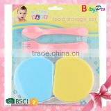 Babypro 2015 Hot Sale China SupplierPlastic Baby Soup Bowl And Spoon Set Baby Tableware Unique Soup Bowls