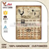 Good Quality Calendar Wall Art Burlap Plaque Decor Wholesale Metal Crafts Wedding Decoration