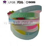 Canton Fair mix color silicone bracelets,beautiful promotional silicon wristband/band