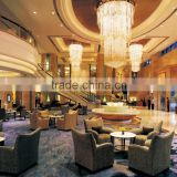 Star hotel lobby furniture / public furniture set with table and sofa chair IDM-L002