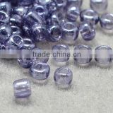 11/0 Glass Seed Beads, Transparent Lustered, Lilac Micro Beads(SEED-Q011-01)