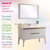 ROCH 8039 Top Sales Semi-gloss Bathroom Cabinet,Plywood Cabinet,Marble Top White Cabinet