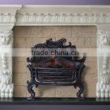 Natural stone Home designs decoration marble fireplace mantel