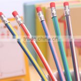 Flexible Soft Pencil With Eraser For Kids Writing Gift Student School Office Use lapis de cor