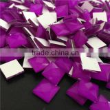 hot sale opaque purple color square shape loose crystal stone for fashion case shaped beads exporter