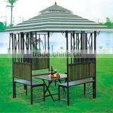 Outdoor lounge chair with canopy
