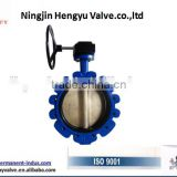 Cast Iron single through stem water, gas media with no pin high quality lug butterfly valve