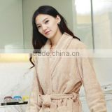 Men Hotle Quality Bathrobe Fleece Full Length Bathrobe Polyester Coral Fleece Warm Sleepwear