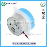 RoHS Compliant Small Flat Plastic Gear DC Electric Motor with Lead Wire