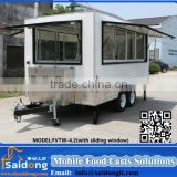 Street Ice Cream Van Mobile Factory Supply Cheap Mobile Juice Cart electric food vans grilled trailers with sausage machine