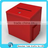 elegant red acrylic ballot box acrylic donation box acrylic voting box with brochure holder