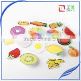 2016 sell hot Acrylic Brooches Set Funny Letter Fruit Pin for Clothes/Bags/Backpack
