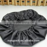 2016 Guangdong Top Suppliers Wholesale Adults Black Shower Caps with Single Layered Bathroom Bath Caps Satin Hair Hats