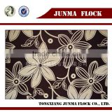 Coffee Flower Pattern China Textile Flock on Flock Wholesale Home Furniture Decoration Accessories