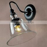American country retro glass bell wall sconce hallway wall lamp