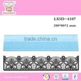 Trade assurance Hot selling cake lace large mat cake decorating silicone mold cake lace mat