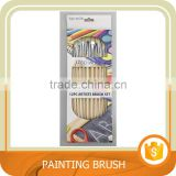 12pc Artist Bristle brush set, Oil Painting brush with Aluminium Ferrule. Trade assurance.