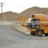 self loading and propelled concrete mixer power shift truck with pump diesel engine air conditioner