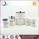 Wholesale modern style decal set of 5 ceramic kitchen canister sets