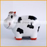 Lovely cheap resin cow piggy coin bank for kids