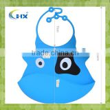 Wholesale Cute Fancy Flexible Silicone Baby Bib With Crumb Catcher