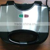 2 slice electric sandwich maker with stainless steel decoration