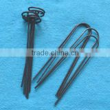 "Drip Irrigation Tubing Hold Down 6"" Wire Stake ""Staple Style"" fits 1/8"" to 3/4"" tubing - 100 Packing"