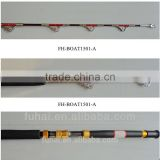 FH-BOAT1501-A Fiberglass Boat Fishing Rod with Red Wire Twined