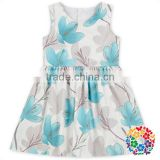 Latest Dress Designs For Children Flower Pattern Young Girl Sleeveless Girls Dress