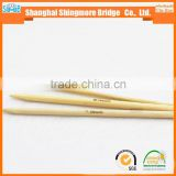 needle work supplier cheap wholesale good quality 20cm bamboo double point needle knitting in low price