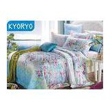 Mint Smell Modal 4pcs Modern Garden Floral Bedding Sets Durable With Colorful Reactive Printing