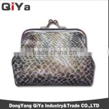 Wholesale Luxury Classical Snakeskin PU Women Clasp Lipstick Coin Purse Metal Purses Frame Wallets