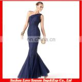 HC4242 The Whole Sale Mermaid Sleeveless Applique Jewelry Neckline Royal Blue Bottom Tull Mermaid Evening Dress