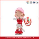 Manufacturer Custom Made Plush Stuffed Rag Girls Dolls