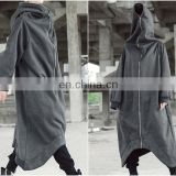 2018 Asymmetric Overlong Oversized Gotham City Hooded Irregular Long Coat Women Winter Loose Windbreaker Casual