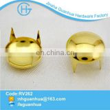 Design gold brass material metal studs for clothing