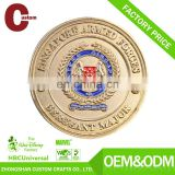 Custom production gold metal souvenir coin
